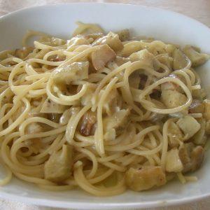 Carnet de Voyage, Italie, recette Carbonara aux artichauts