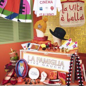 Carnet de voyages, La Famiglia Rive Gauche, Le Bon Marché exposition