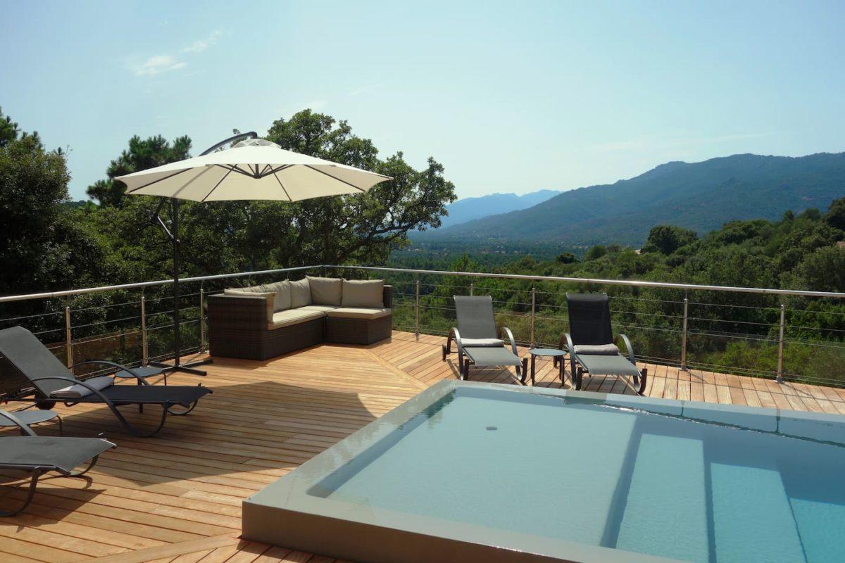 Villa chjara corse porto vecchio france location - Location maison piscine porto vecchio ...